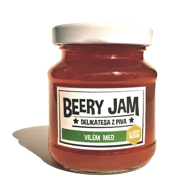"""145 ml Pivný džem slovenského výrobcu Beery Jam """"Vilém med"""""""