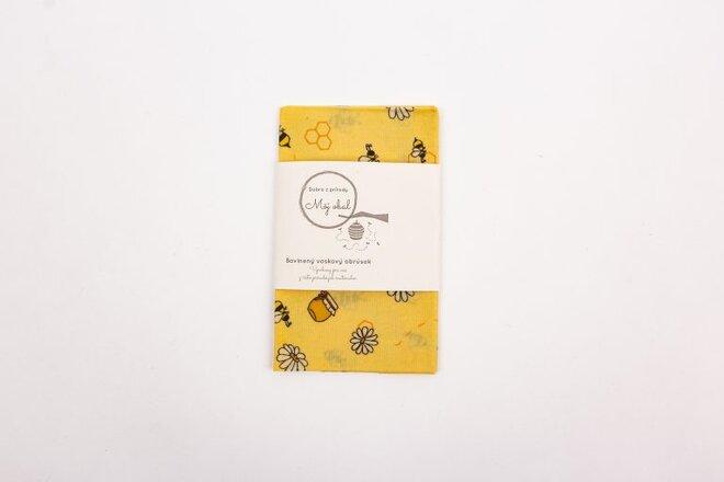 """Ekologický voskový obrúsok """"Včielky"""" (25 x 25 cm)"""