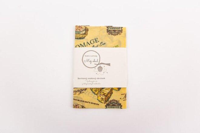 """Ekologický voskový obrúsok """"Syr"""" (30 x 30 cm)"""