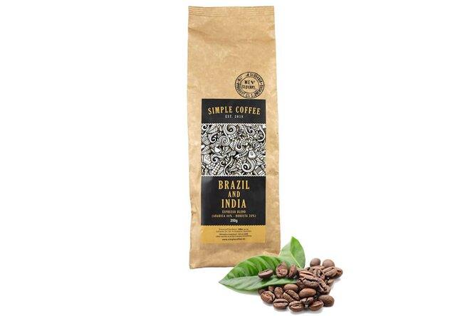 Zrnková espresso blend káva pražená na Slovensku (Brazília + India)