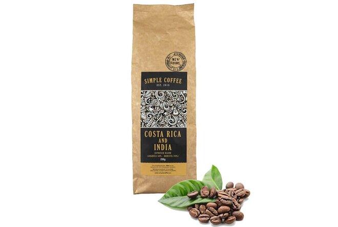 Zrnková espresso blend káva pražená na Slovensku (Kostarika + India)