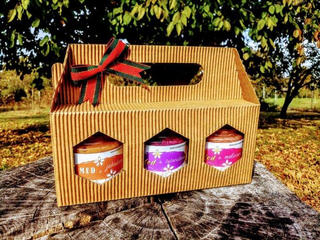 3-dielny SET: Sladučké ovocie v darčekovom balení