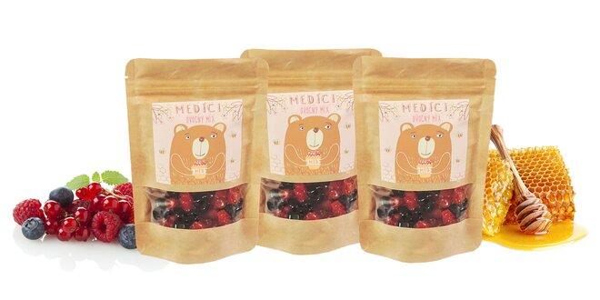 """3 x 110 g Balenie medovo-ovocných mackov """"Medíci"""" (ovocný mix)"""