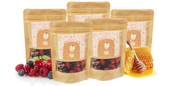 """5 x 110 g Balenie medovo-ovocných mackov """"Medíci"""" (ovocný mix)"""