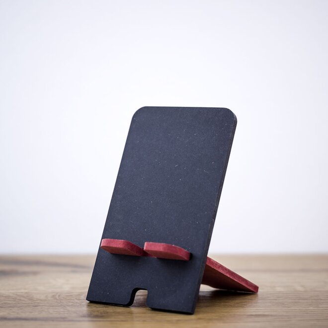Stojan na mobil (čierna + červená)
