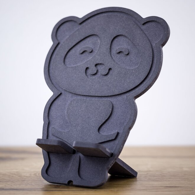 Stojan na mobil (tmavosivá panda)