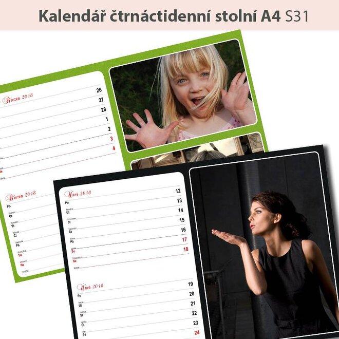 Plánovací kalendár (stolný alebo nástenný)