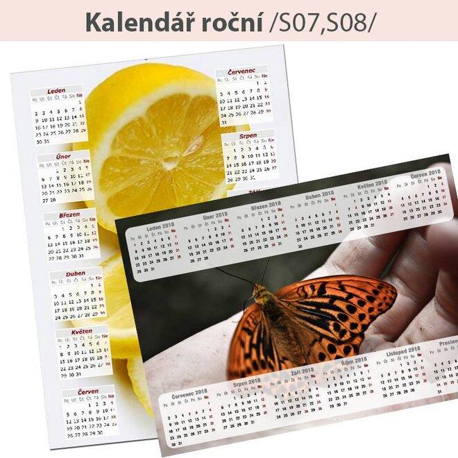 10 x Veľký nástenný ročný kalendár A3 (na výšku alebo na šírku)