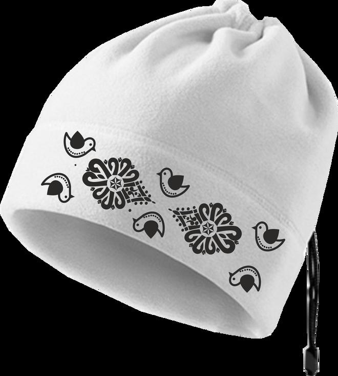 Praktická fleecová čiapka a nákrčník 2v1 (Vtáčiky)