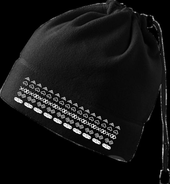 Praktická fleecová čiapka a nákrčník 2v1 (Čičmany)