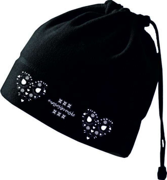 Praktická fleecová čiapka a nákrčník 2v1 (Srdce)