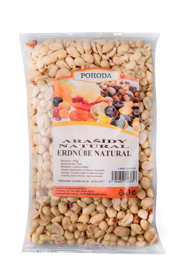500 g Arašidy natural