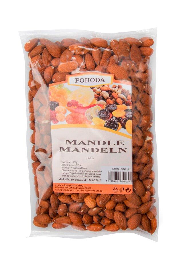 500 g Mandle nelúpané