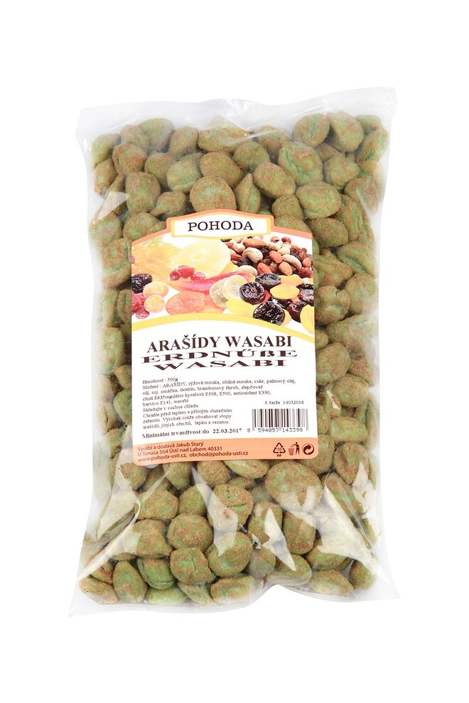 500 g Arašidy wasabi