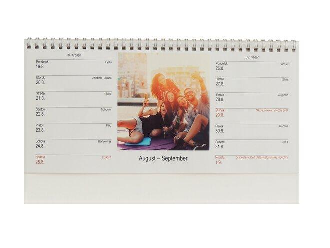 Dvojtýždňový stolový kalendár