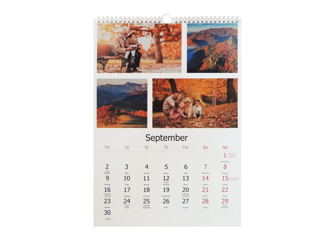 Nástenný kalendár vo formáte A3