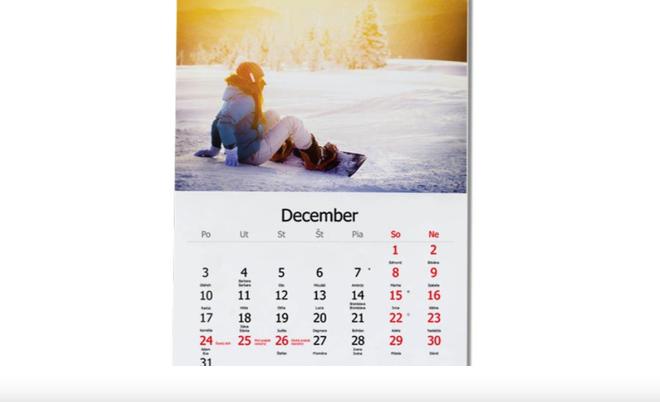 Nástenný kalendár vo formáte A4