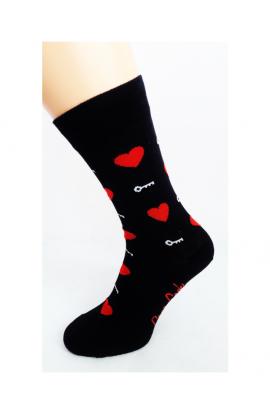 Bláznivé pánske ponožky Srdcia s kľúčikom