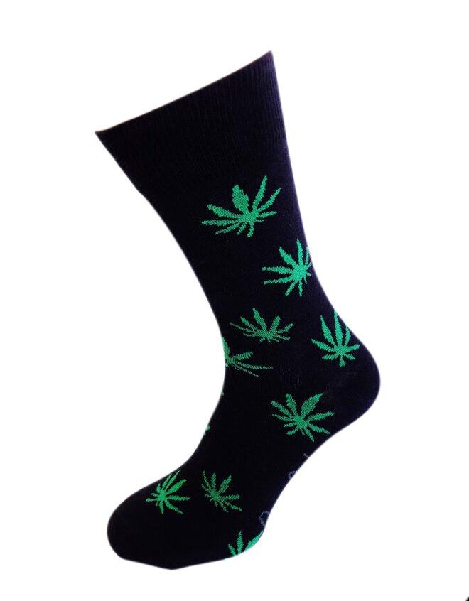 Bláznivé pánske ponožky Tráva