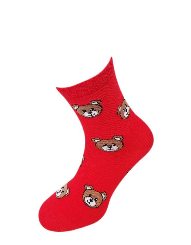 Bláznivé dámske ponožky Mackovia na červenej