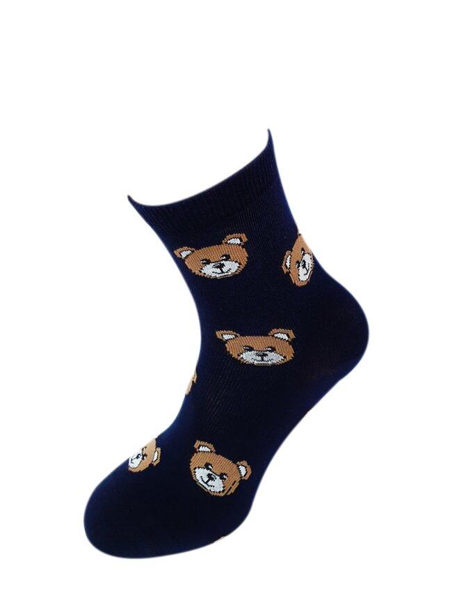 Bláznivé dámske ponožky Mackovia na modrej