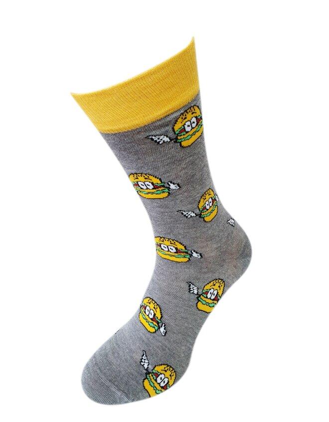 Bláznivé pánske ponožky Hamburgery
