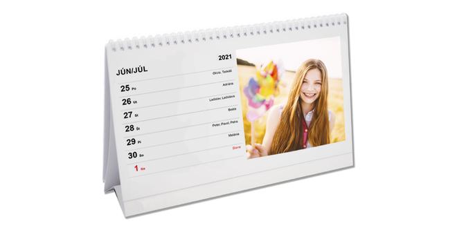 Týždenný stolový kalendár
