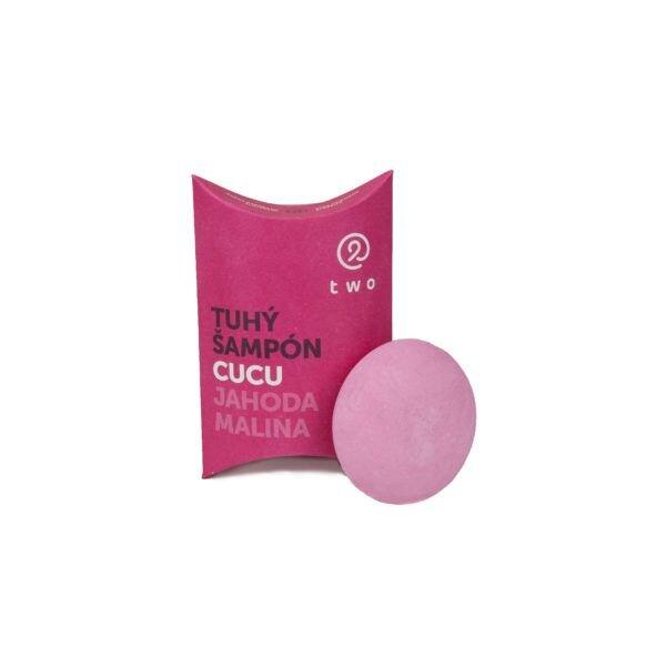 85 g Prírodný tuhý šampón Malina