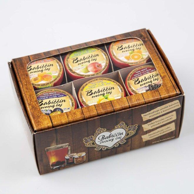 6 x 60 ml Babičkin pečený čaj (univerzálna darčeková krabička)