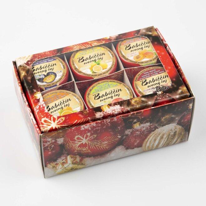 6 x 60 ml Babičkin pečený čaj (červená vianočná darčeková krabička)