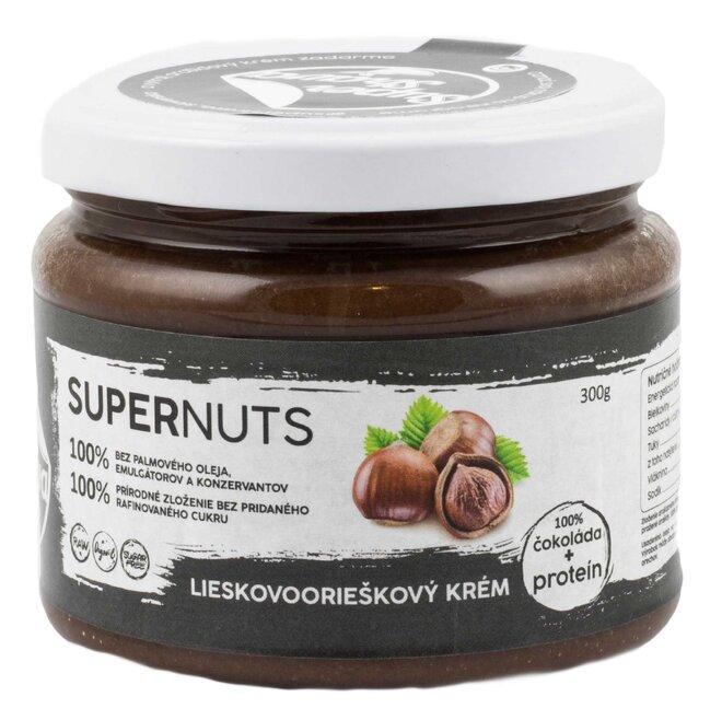 300 g Lieskovoorieškový krém s čokoládou a proteínom Supernuts