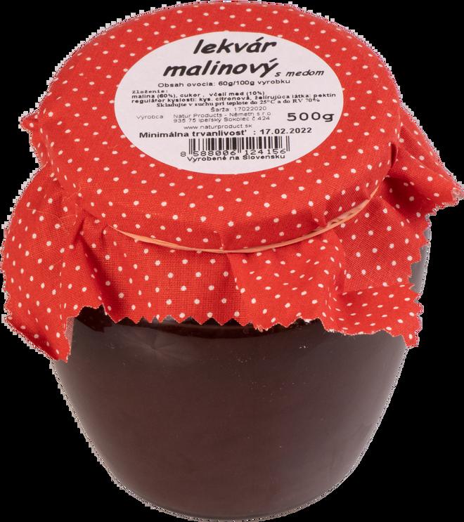 500 g Lekvár s medom (malinový)