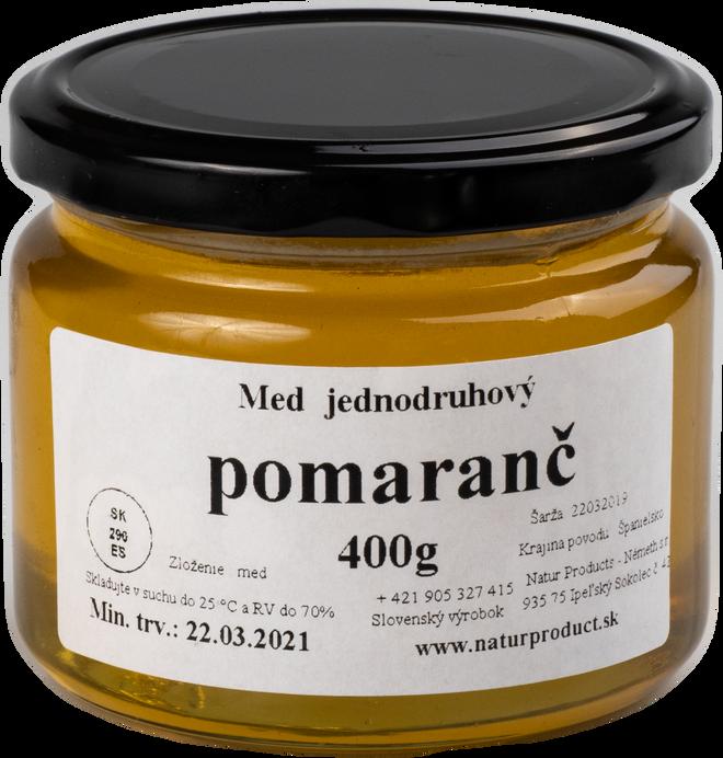 400 g Jednodruhový med (pomarančový)