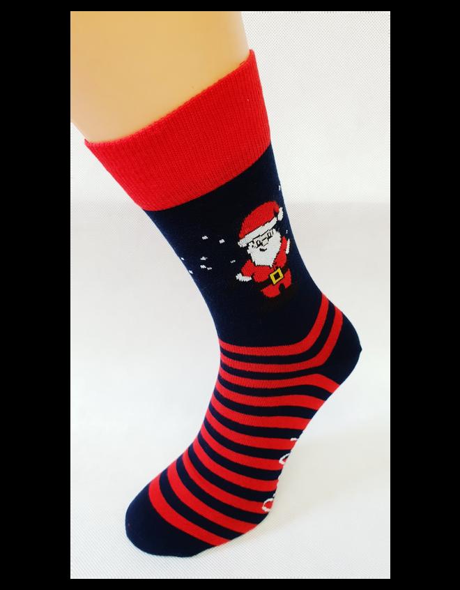 Bláznivé pánske ponožky Santa