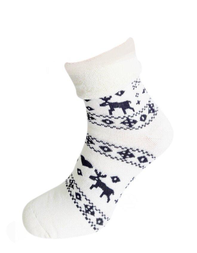 Bláznivé dámske froté ponožky Stádo sobov