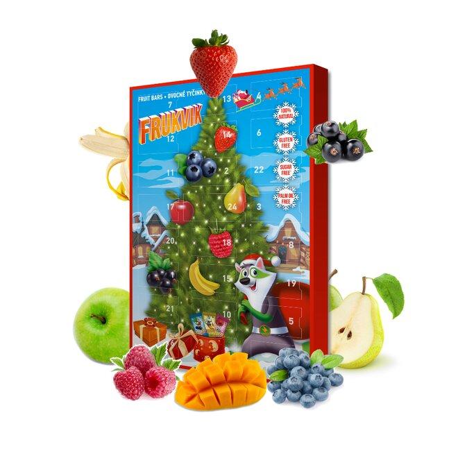 250 g Zdravý adventný kalendár s ovocnými tyčinkami (Frukvik)