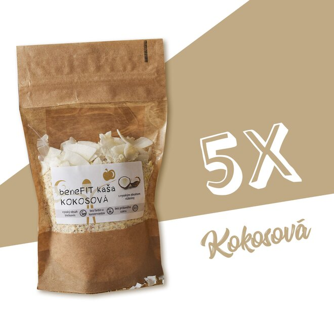 5 x 90 g BeneFIT kaša (kokosová)