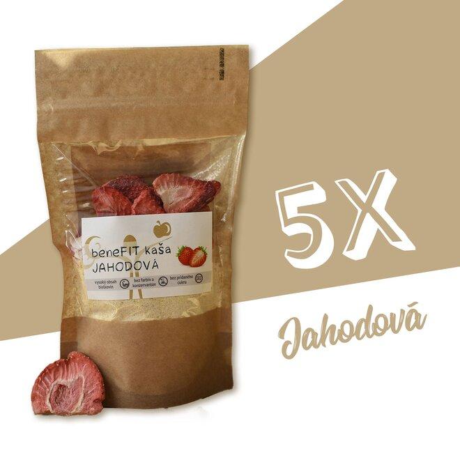 5 x 70 g BeneFIT kaša (jahodová)