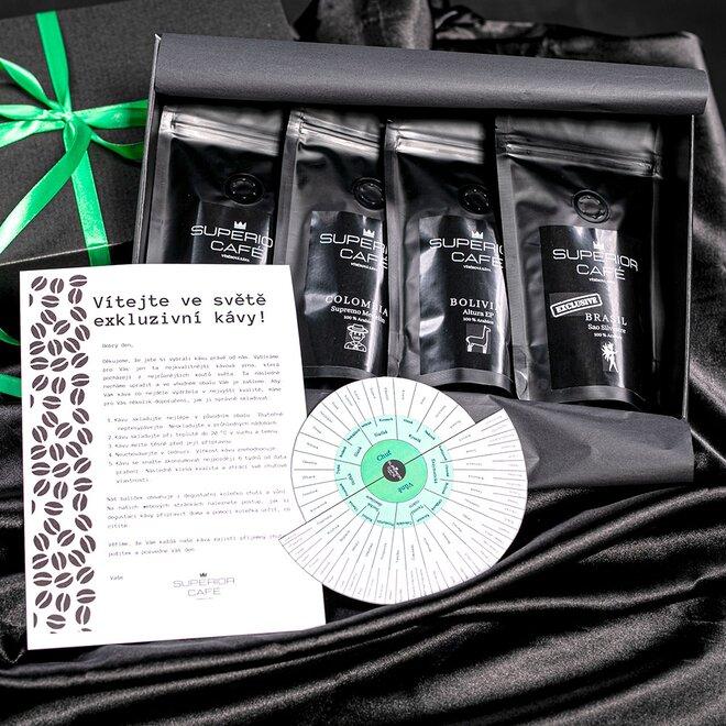 4 x 80 g Degustačný balíček káv z Južnej Ameriky SOUTH