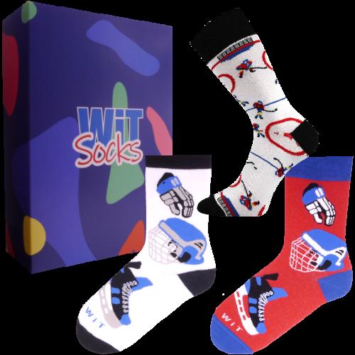 3 ks Darčekový set ponožiek (hokej)