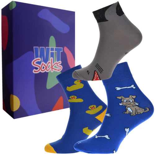3 ks Darčekový set klasických ponožiek (zvieratká)