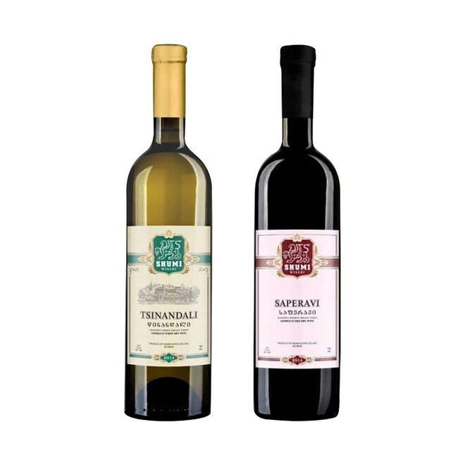 2 x 0,75 l Gruzínske víno (Saperavi + Tsinandali)