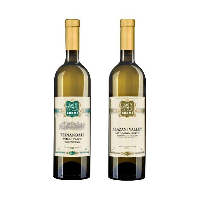 2 x 0,75 l Gruzínske víno (Alazani Valley +Tsinandali)