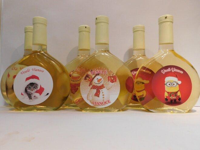 6 x 0,5 l Broskyňové víno s vianočnou etiketou