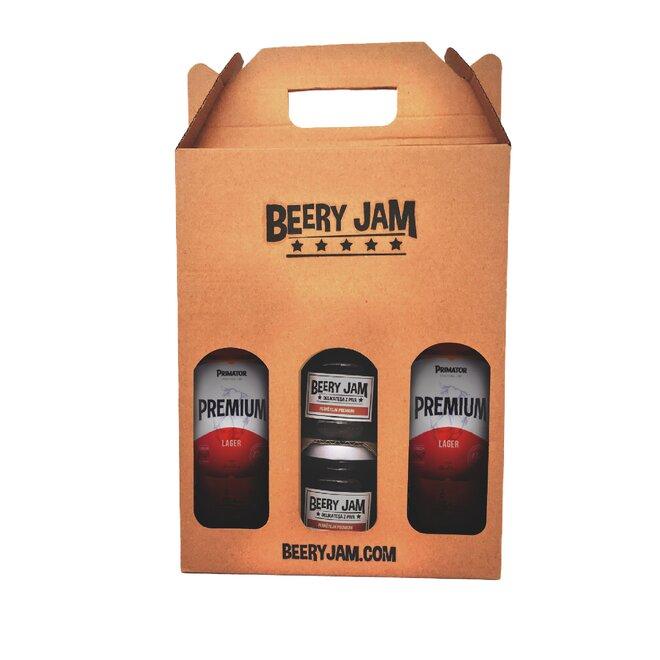 """4-dielne Balenie pív a džemov slovenského výrobcu Beery Jam """"Prémium Pack"""""""