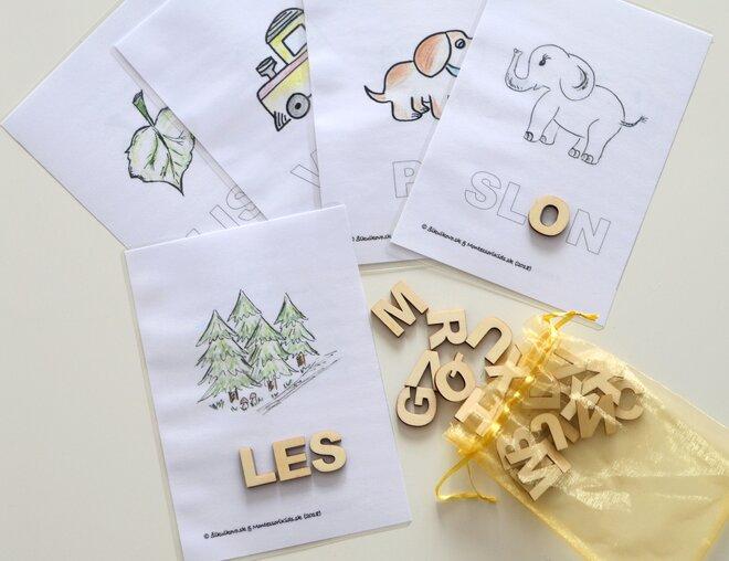 Edukačné kreatívne písmenká / abeceda a tvorenie prvých slov