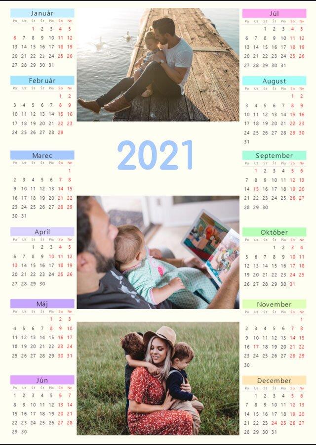 Nástenný ročný kalendár z vlastných fotografií A3 (na výšku)
