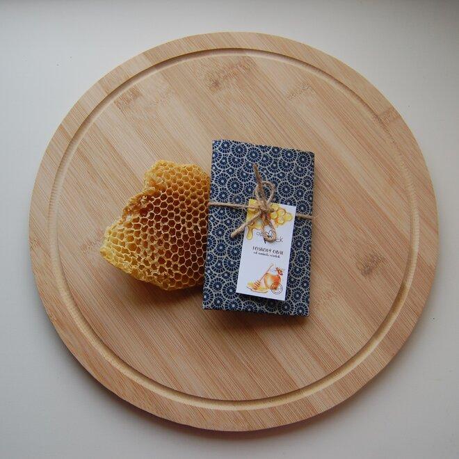 """Ekologické voskové vrecko na desiatu """"Modrý ornament"""""""