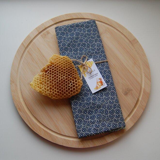 """Ekologické voskové vrecko na chlieb """"Modrý ornament"""""""