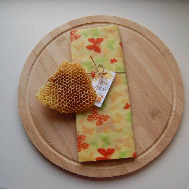 """Ekologické voskové vrecko na chlieb """"Motýliky"""""""
